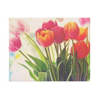 Beauté de fleur de tulipe florale toile