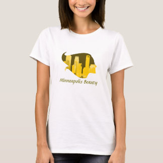 Beauté de Minneapolis en jaune T-shirt