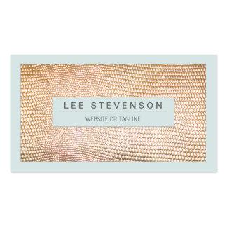 Beauté et mode élégantes de peau de serpent d'or modèles de cartes de visite