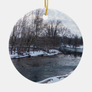 Beauté James River de neige Ornement Rond En Céramique