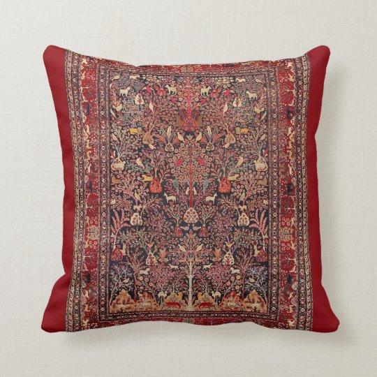 Beaux-arts antiques vintages persans de nature de coussin