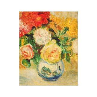 Beaux-arts de Renoir de roses et de dahlias Toiles