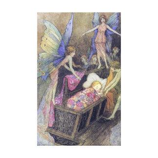 Beaux-arts de Warwick Goble de berceuse de bébé de Toiles