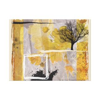 Beaux-arts d'odeur d'hiver touchant l'arbre isolé toiles