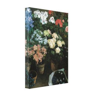 Beaux-arts floraux avec l'enveloppe de toile de toiles