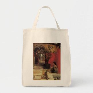 Beaux-arts floraux avec l'oléandre sac en toile épicerie