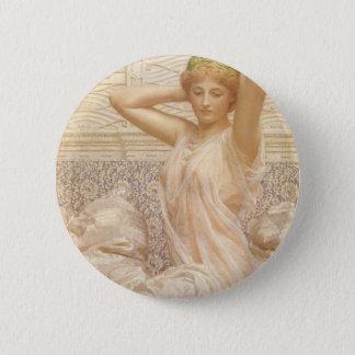 Beaux-arts victoriens, argent par Albert Joseph Badge Rond 5 Cm