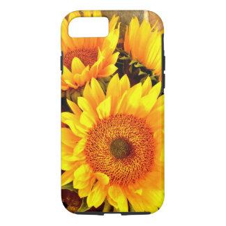 Beaux cadeaux de bouquet de tournesol coque iPhone 7