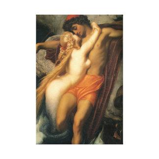 Beaux couples de sirène dans l'humain et la sirène toile