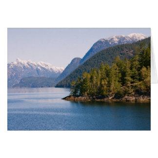 Beaux montagnes et océan de Colombie-Britannique Carte
