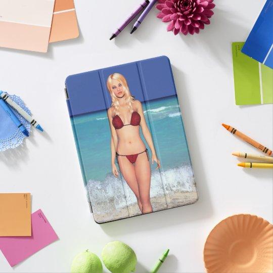 Bébé blond de plage de bikini protection iPad pro