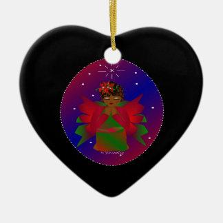 Bébé d'ange de Noël autour du monde dans le noir I Décoration Pour Sapin De Noël
