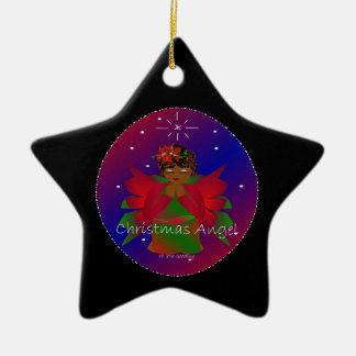 Bébé d'ange de Noël autour du monde dans le noir Ornement De Noël