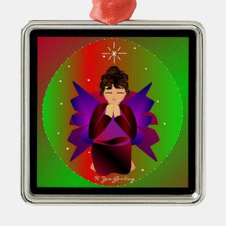 Bébé d'ange de Noël autour du monde dans le noir Décorations Pour Sapins De Noël