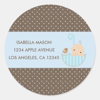 Bébé dans les étiquettes de adresse de retour
