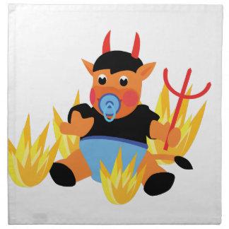 bébé de diable serviettes en tissus