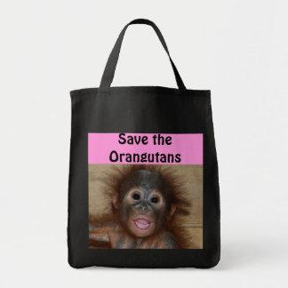 Bébé de faune d'animaux sac en toile épicerie