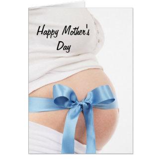 Bébé de femme enceinte du jour de mère carte de vœux