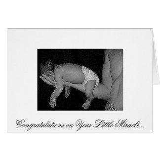bébé de papa, félicitations sur votre petit Miracl Carte De Vœux