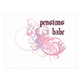 Bébé de pensions carte postale