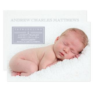 Bébé doux de marin, annonces de naissance carton d'invitation  12,7 cm x 17,78 cm