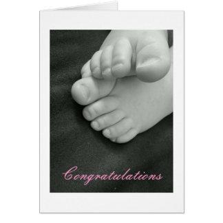 Bébé - félicitations carte de vœux