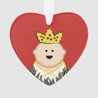 Bébé Jésus en foin avec Crown du Roi