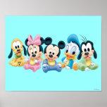 Bébé Mickey Mouse et amis Posters