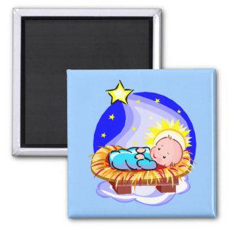 Bébé mignon Jésus et étoile Aimant