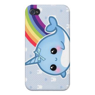 Bébé mignon narwhal et arc-en-ciel coque iPhone 4/4S