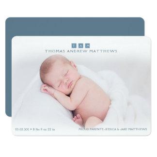 Bébé moderne, annonces de naissance carton d'invitation  12,7 cm x 17,78 cm