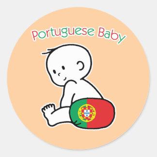 Bébé portugais sticker rond