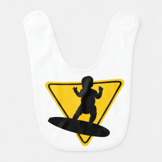 Bébé sur le panneau (de surf) bavoirs