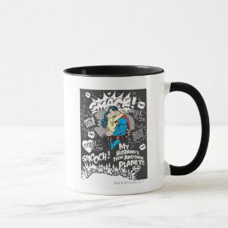 Bécotez-vous, claquez - le collage mug