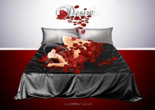 Bed Met Rozen.Bed Van Rozen Kaarten Zazzle Be
