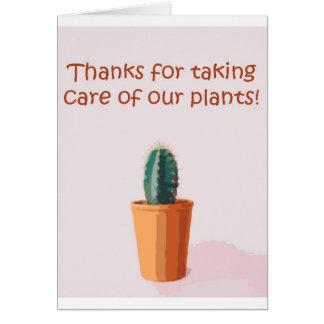 Bedankt voor het behandelen van ons plant kaart
