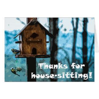 Bedankt voor huis-zit briefkaarten 0