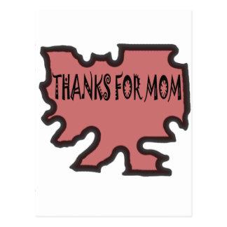 Bedankt voor Mamma Briefkaart
