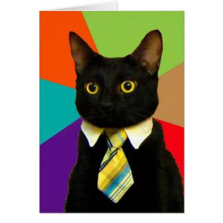 bedrijfs kat - zwarte kat kaart