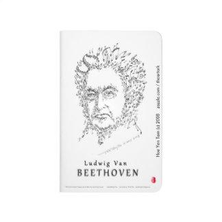 Beethoven font face à la musique carnet de poche
