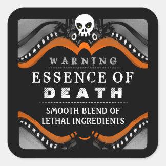 Behandelt de Zwarte Oranje Witte Drank van Vierkante Stickers