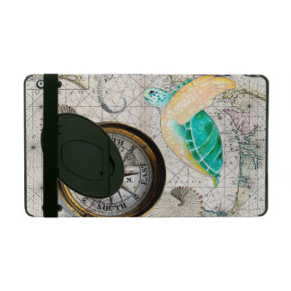 Beige de carte de tortue de mer protection iPad