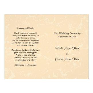 Beige en Zwart met het Subtiele Huwelijk van het Flyer 21,6 X 27,9 Cm
