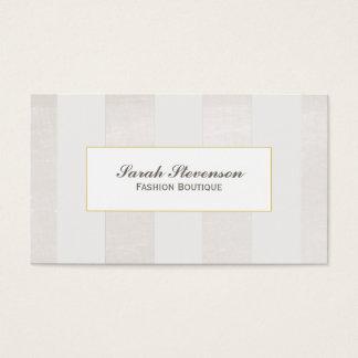 Beige et blanc barre la boutique monochromatique cartes de visite