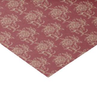Beige floral de Mini-copie de style ethnique sur Papier Mousseline