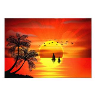 bel art orange de coucher du soleil photographie