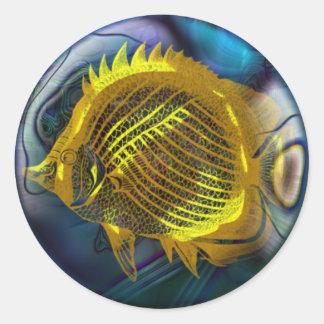 Bel autocollant de poissons, 3 pouces (feuille de