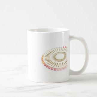 bel ensemble de goupille de rose de perle mug