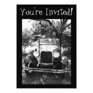 Bel invitation de photo de voiture ancienne