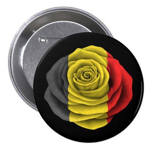 Belg nam Vlag op Zwarte toe Button